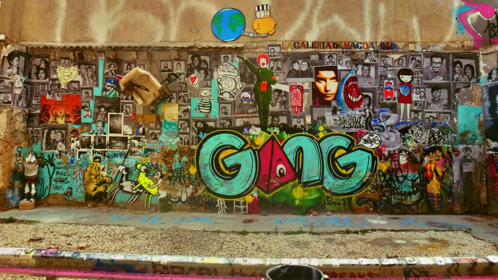 Fresque murale à Barcelone – Michael M