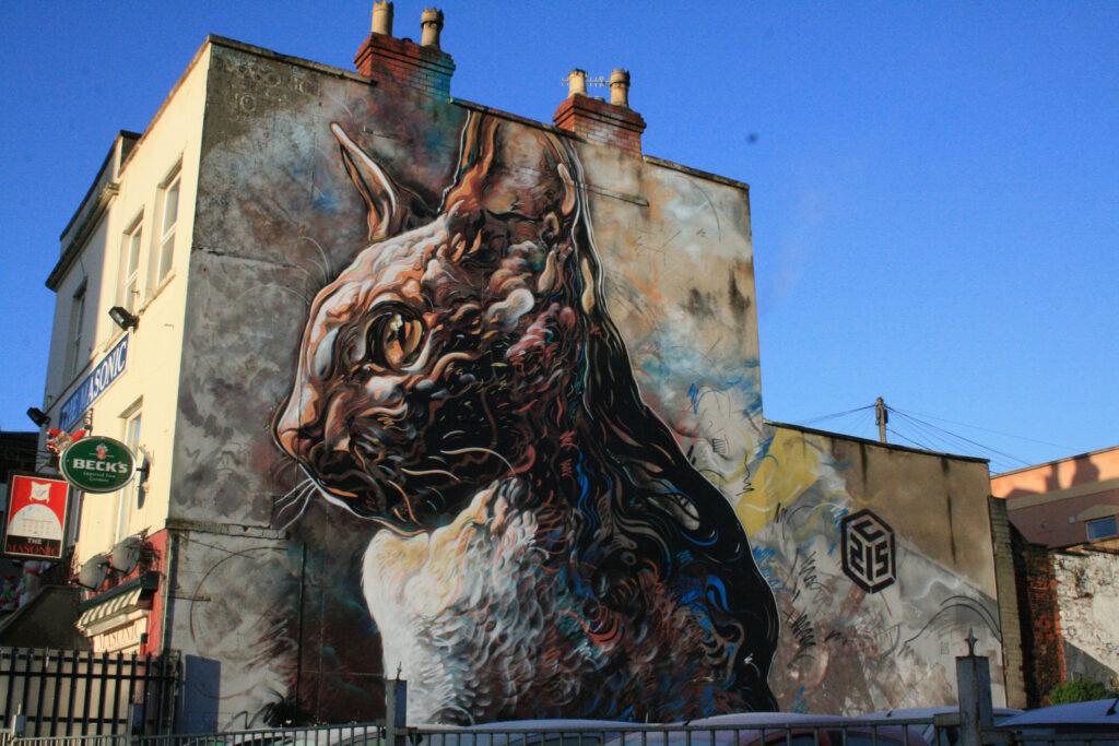 Fresque par C215 à Bristol – KylaBorg