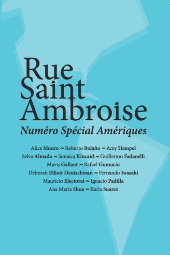 Rue Saint Ambroise, numéro spécial Amériques, nouvelles