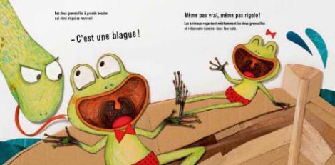 Les deux grenouilles à grande bouche, Pierre Delye, Cécile Hudrisier, Didier Jeunesse