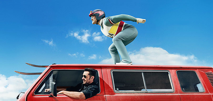 Eddie the eagle, Hugh Jackman, Taron Egerton