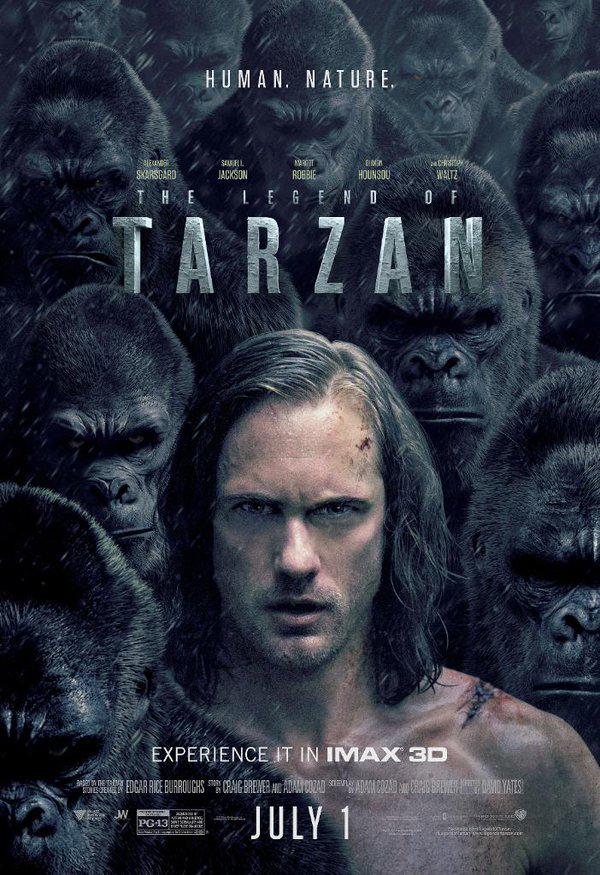 Tarzan, David Yates, Alexander Skarsgård, Margot Robbie, Christoph Waltz, Samuel L. Jackson,