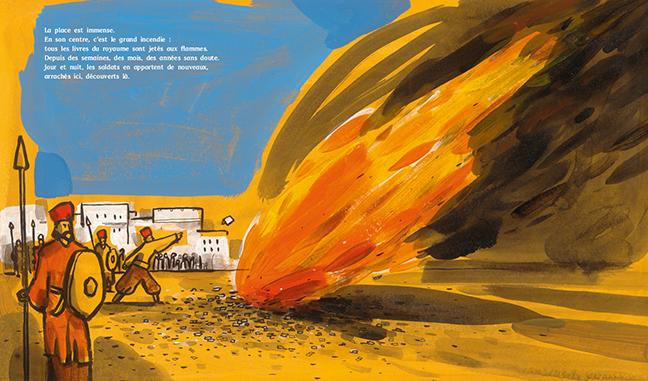 Le Grand Incendie, Gilles Baum, Barroux, éditions des Éléphants
