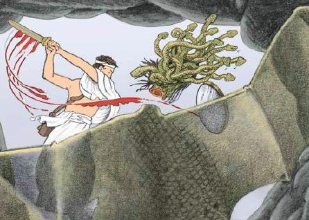 Persée, Vainqueur de la Gorgone, Yvan Pommaux, L'École des Loisirs